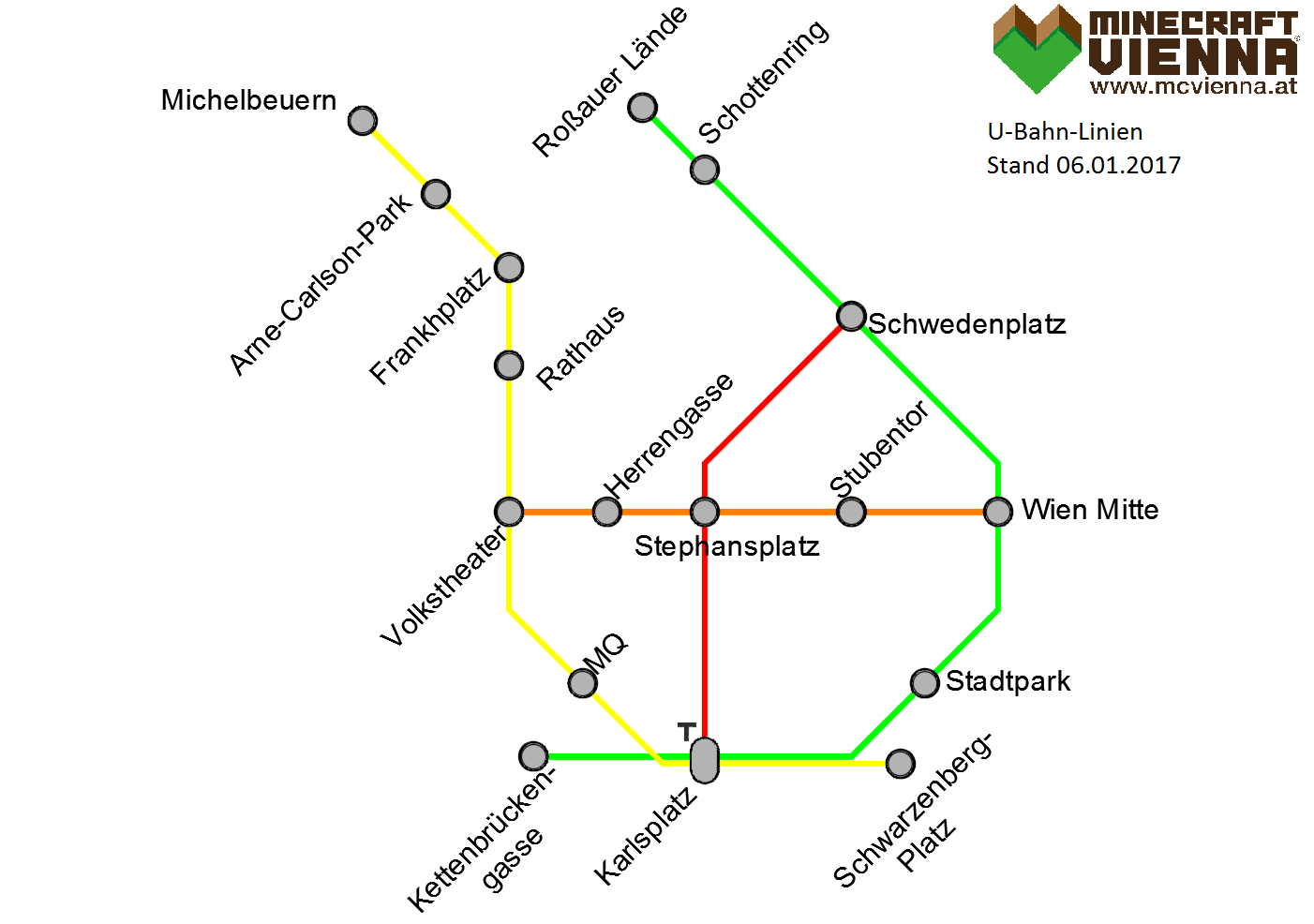 MCVIENNA Vienna Minecraft subway map
